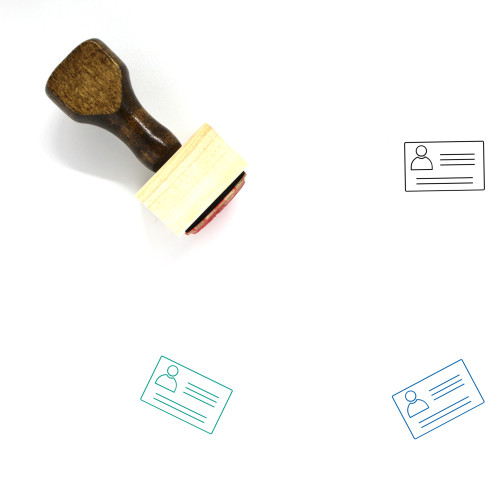 Identity Card Wooden Rubber Stamp No. 91