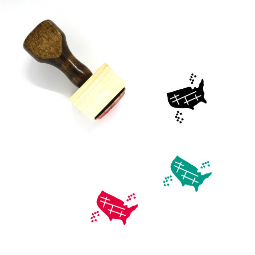 USA Wooden Rubber Stamp No. 44