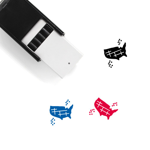 USA Self-Inking Rubber Stamp No. 44