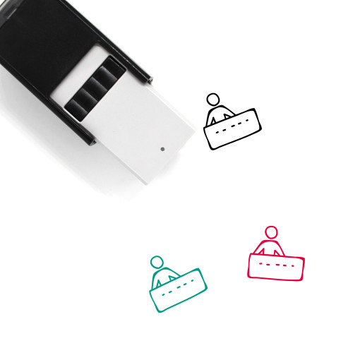 Reception Self-Inking Rubber Stamp No. 24