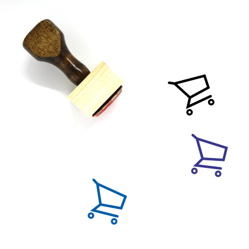 Shopping Cart Wooden Rubber Stamp No. 333