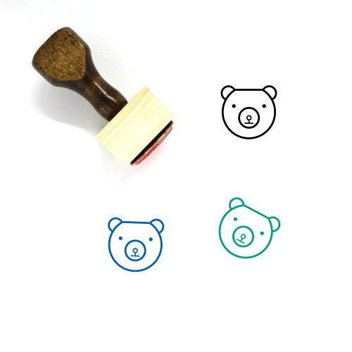 Bear Wooden Rubber Stamp No. 158