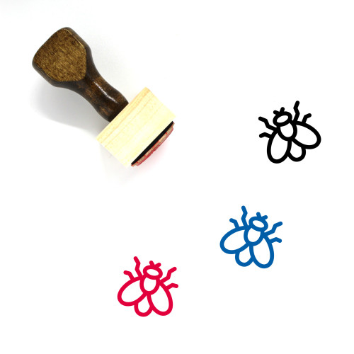 Fly Wooden Rubber Stamp No. 106