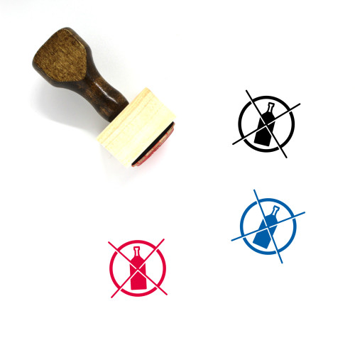Do Not Drink Wooden Rubber Stamp No. 2