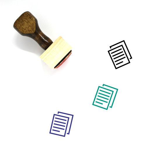 Documents Wooden Rubber Stamp No. 132