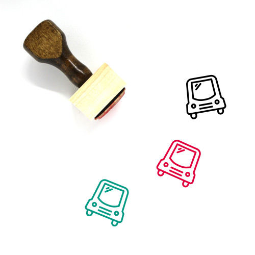 Car Wooden Rubber Stamp No. 460