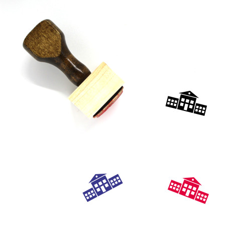 School Wooden Rubber Stamp No. 193