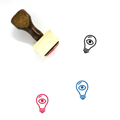 Light Bulb Wooden Rubber Stamp No. 383