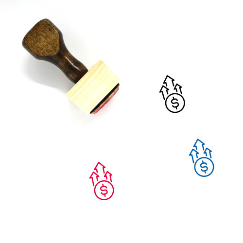 Money Grow Up Wooden Rubber Stamp No. 1