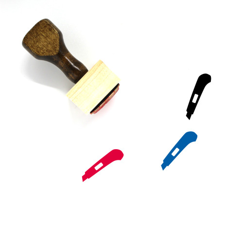 Utility Knife Wooden Rubber Stamp No. 43