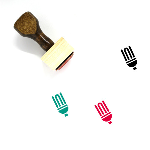 Energy Saving Bulb Wooden Rubber Stamp No. 5