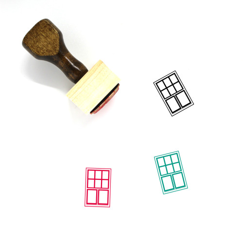Window Wooden Rubber Stamp No. 148