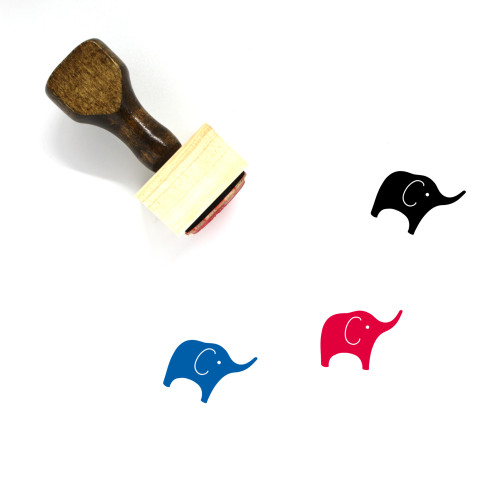 Elephant Wooden Rubber Stamp No. 72