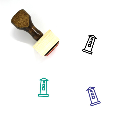 Tower Wooden Rubber Stamp No. 92