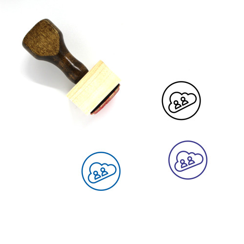 Cloud Activity Wooden Rubber Stamp No. 12
