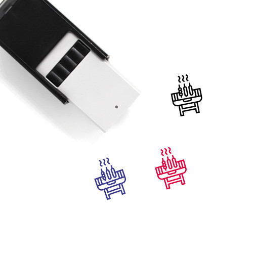Barbecue Grill Self-Inking Rubber Stamp No. 18