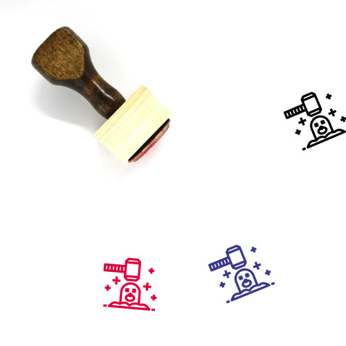 Mole Wooden Rubber Stamp No. 21