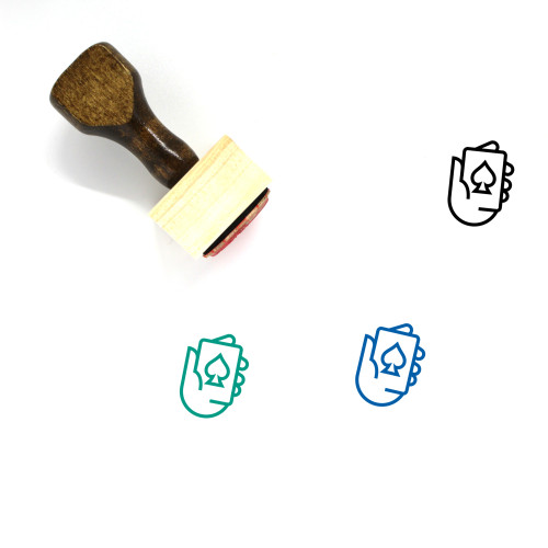 Spade Wooden Rubber Stamp No. 25