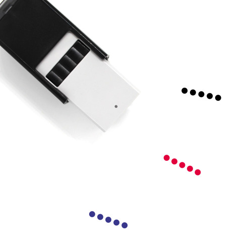 Five Self-Inking Rubber Stamp No. 46