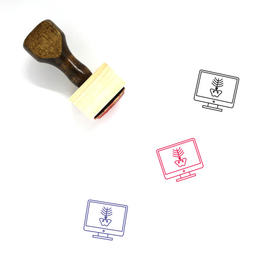 Xray Wooden Rubber Stamp No. 14