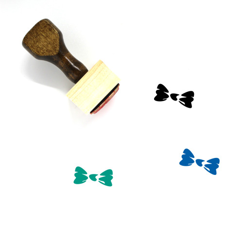 Bow Tie Wooden Rubber Stamp No. 34