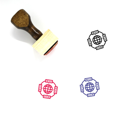Global Communication Wooden Rubber Stamp No. 40