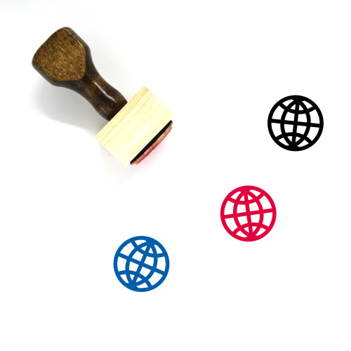 World Wide Wooden Rubber Stamp No. 12