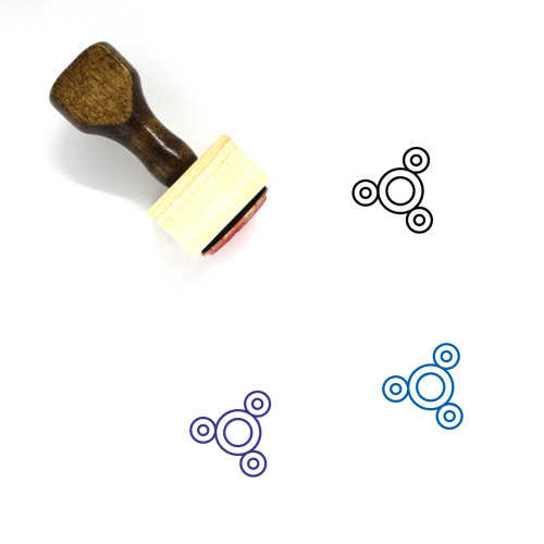 Spinner Wooden Rubber Stamp No. 13