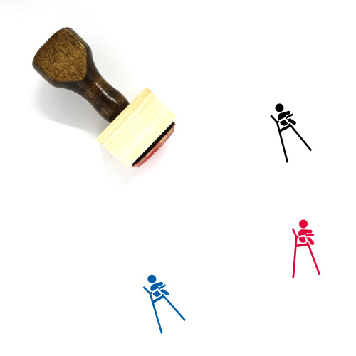 Baby High Chair Wooden Rubber Stamp No. 1