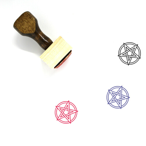 Satanism Wooden Rubber Stamp No. 1