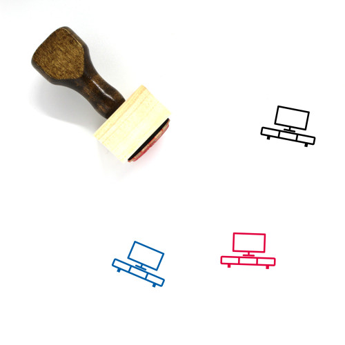 Television Wooden Rubber Stamp No. 176