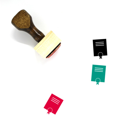Diploma Wooden Rubber Stamp No. 42