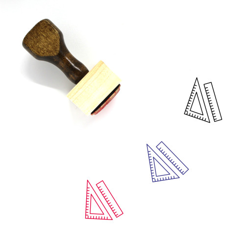 Rulers Wooden Rubber Stamp No. 37