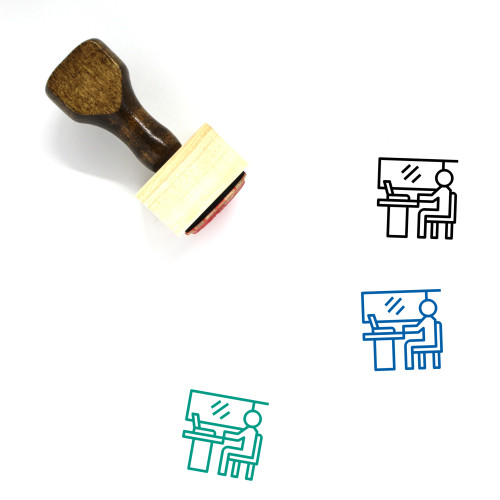 Employee Wooden Rubber Stamp No. 152