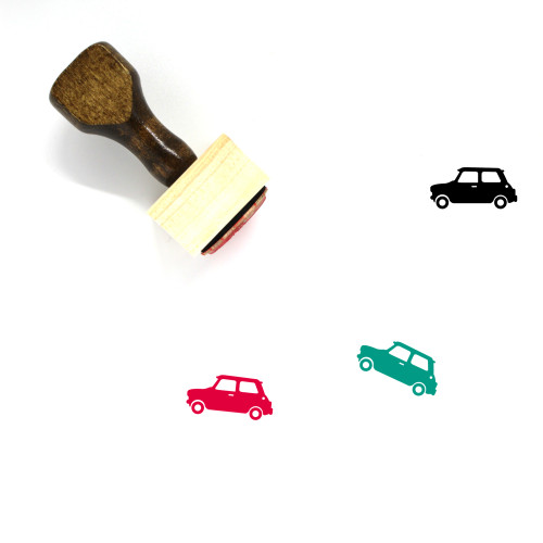 Mini Cooper Wooden Rubber Stamp No. 6