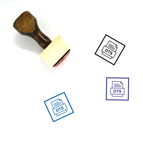 Dts File Document Icon Wooden Rubber Stamp No. 3