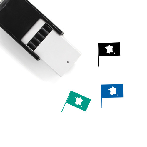 France Flag Self-Inking Rubber Stamp No. 14