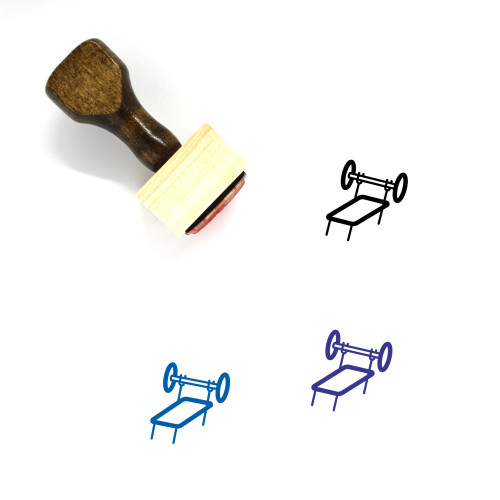 Weight Lifting Wooden Rubber Stamp No. 14