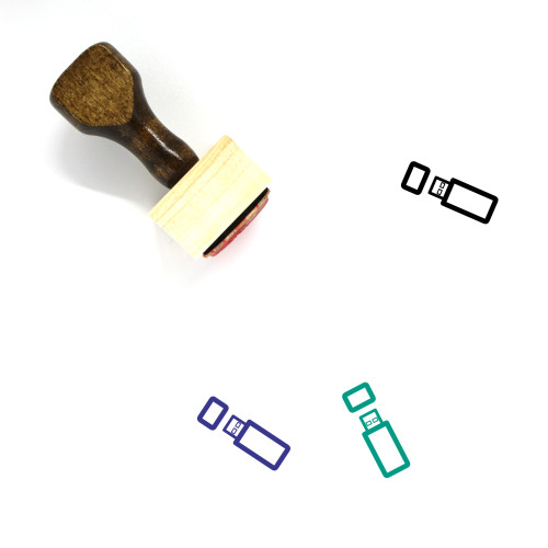 Usb Stick Wooden Rubber Stamp No. 37