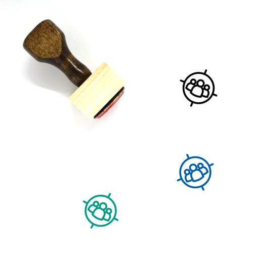 Target Audience Wooden Rubber Stamp No. 99