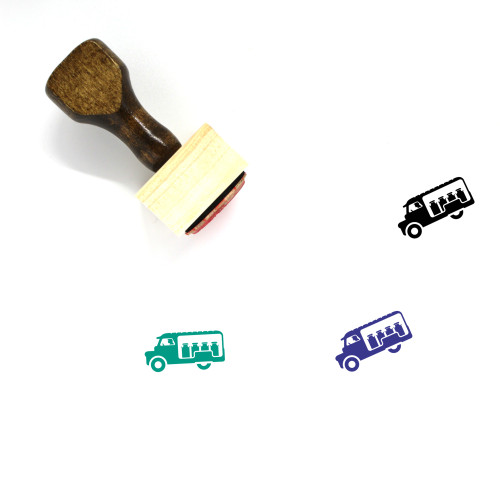 Van Wooden Rubber Stamp No. 135