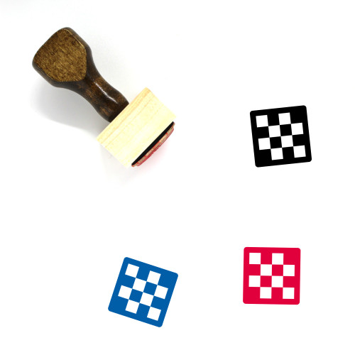 Chess Board Wooden Rubber Stamp No. 35