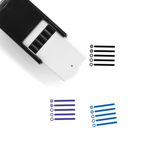 List Item Self-Inking Rubber Stamp No. 18