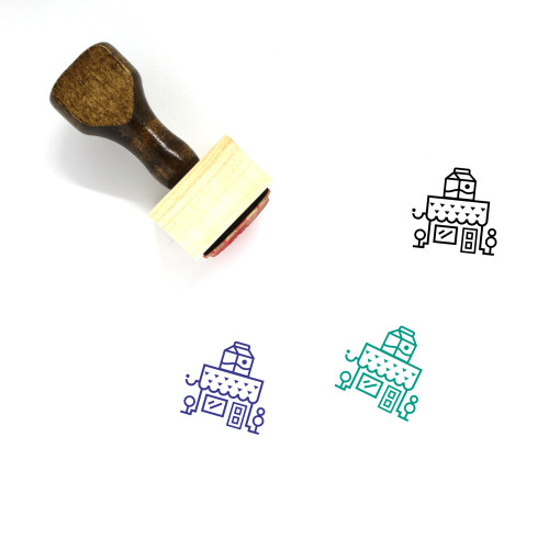 Grocery Store Wooden Rubber Stamp No. 24