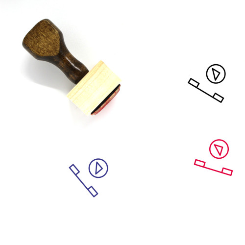 Video Call Wooden Rubber Stamp No. 43