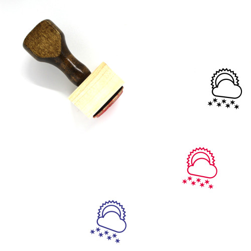 Heavy Snow Wooden Rubber Stamp No. 6