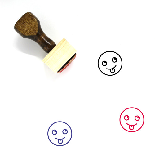 Tongue Out Wooden Rubber Stamp No. 39