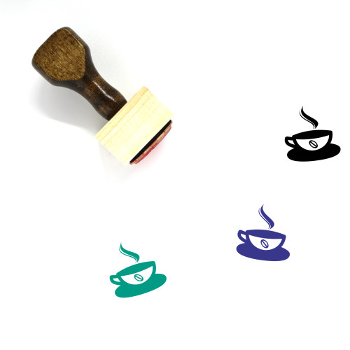 Hot Coffee Wooden Rubber Stamp No. 39