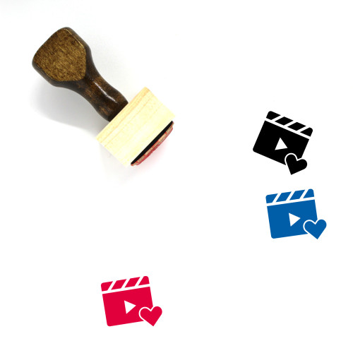 Video Like Wooden Rubber Stamp No. 1