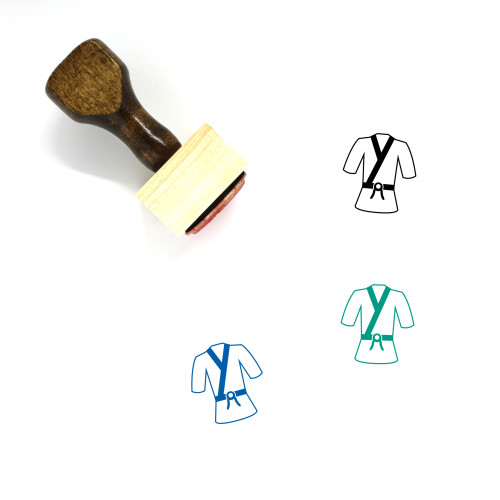 Martial Arts Wooden Rubber Stamp No. 6
